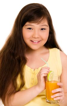 Free Girl With Juice Stock Images - 6578024