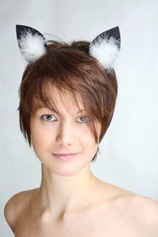 Cat Girl Royalty Free Stock Photos