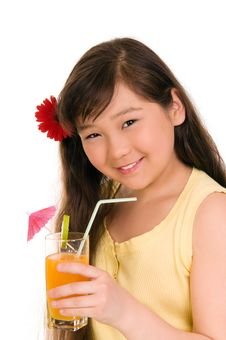 Free Girl With Juice Stock Photo - 6578470