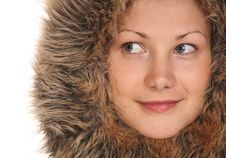 Free Beautiful Girl In Fur Hood Royalty Free Stock Images - 6578729