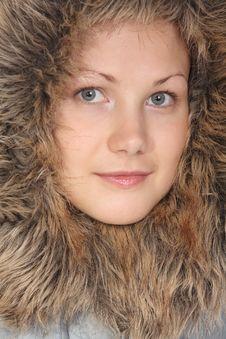 Free Beautiful Girl In Fur Hood Stock Photos - 6578733