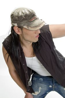 Free White Model With Cap And Pendent Royalty Free Stock Photos - 6578768