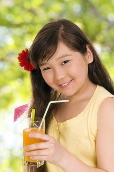 Free Girl With  Juice Stock Photos - 6578873