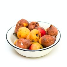 Free Bowl With Spoilt Pear Stock Photo - 6579740