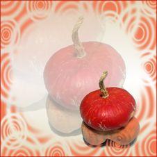 Abstract Pumpkin Stock Photo
