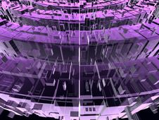 Violet And Pink Circular Transparent Constructions Royalty Free Stock Photography