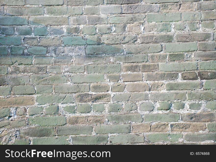 The  weathered  old brick wall