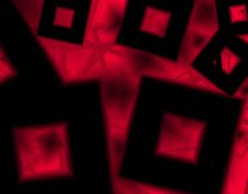 Free Art Background With Black Shapes Cube In A Red Geometrical Texture Stock Image - 65721931