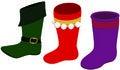 Free Elf Boot & Christmas Stockings Stock Photos - 6582443