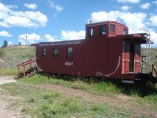 Free Little Red Caboose Stock Photography - 6580102
