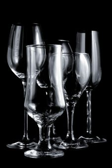 Wine Glasses Still Life Stock Photography