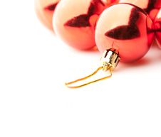 Free Red Christmas Balls On White Royalty Free Stock Images - 6581259