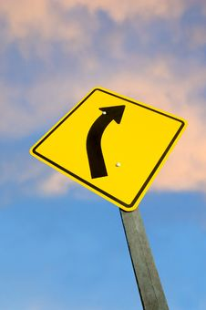 Road Sign Against Sky Royalty Free Stock Images