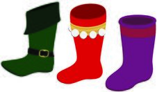 Free Elf Boot & Christmas Stockings Stock Photos - 6582443