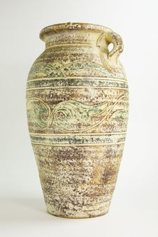 Old Ceramic Vase. Royalty Free Stock Photo