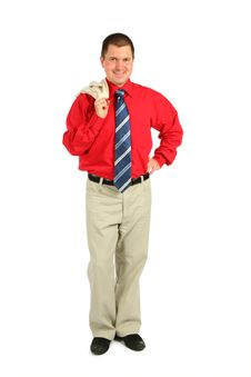 Free Businessman In Red Shirt Stock Photos - 6582483