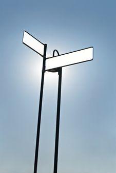 Free Illuminated Blank Sign Royalty Free Stock Images - 6582579