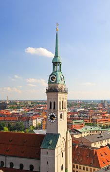 Free The Aerial View Of Munich City Center Stock Photography - 6582582