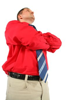 Free Businessman In Red Shirt With His Hands Crossed Royalty Free Stock Photo - 6582615