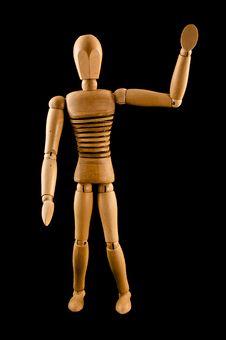 Free Wooden Man Waving Royalty Free Stock Image - 6582676