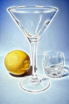 Free Liquor-glass And Lemon Royalty Free Stock Photography - 6582947