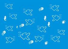 Background Of Fish World Stock Photography