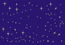 Free Sky With Stars Royalty Free Stock Photos - 6583038