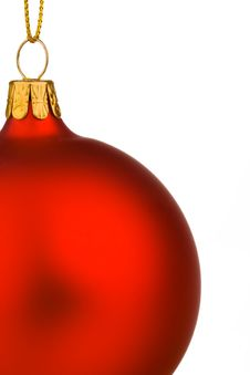 Free A Red Christmas Bauble With Gold Thread Stock Photo - 6583450