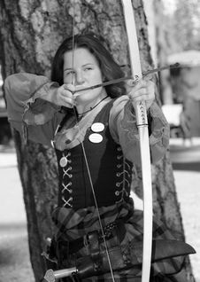 Young Lady Archer 3 Stock Image