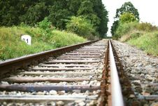 Empty Railroad Royalty Free Stock Photos