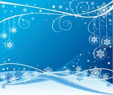 Free Blue Winter Vector Design Stock Images - 6585064