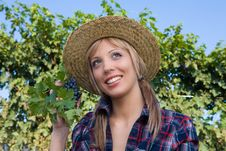 Free Closeup Portrait Of A Happy Young Peasant Woman Stock Image - 6585501
