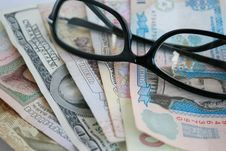 Free Glasses And Money Stock Photo - 6586630
