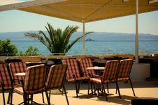 Free Open Air Cafe And Bar Lounge With Amazing Sea View Stock Photography - 6586982