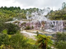 Volcanic Thermal Valley Royalty Free Stock Photo