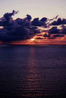 Free Sunset Over The Sea Stock Photos - 6587673