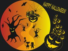 Happy Halloween Background Stock Photo
