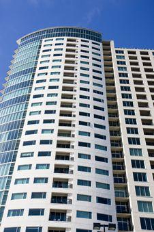 Free Condo Tower Balconies Into Blue Sky Stock Image - 6589061