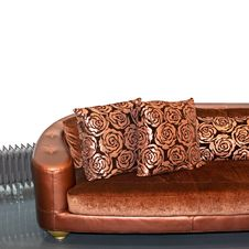 Free Golden Sofa Angle Royalty Free Stock Photos - 6589828