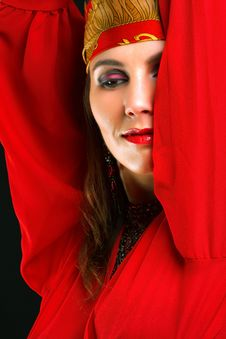 Gipsy Dancer Closeup Portrait Royalty Free Stock Images