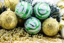 Free Multi-coloured Christmas-tree Decorations Stock Image - 6589941