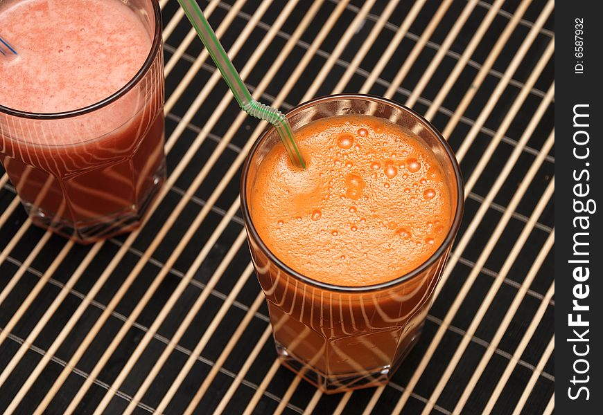 Carrots & grapefruit fresh