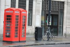 Free Red Phone Boxes In London City Royalty Free Stock Photography - 65897497