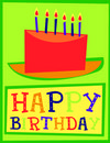 Free Happy Birthday Cake Card Royalty Free Stock Images - 6592039