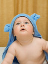 Free Small Smiling Baby In Blue Towel 11 Royalty Free Stock Photos - 6598248