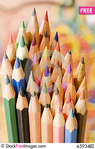 Free Color Pens Stock Photography - 6593482