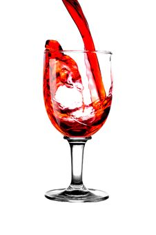 Free Stream Red Wine In Glass Stock Photos - 6591023