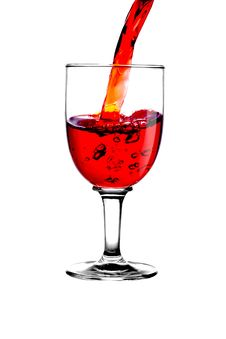 Free Stream Red Wine In Glass Stock Images - 6591044