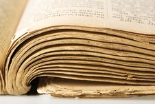 Free Vintage Book Pages Closeup Stock Photography - 6591212