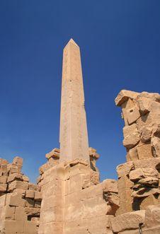 Hieroglyph On The Column Stock Photography